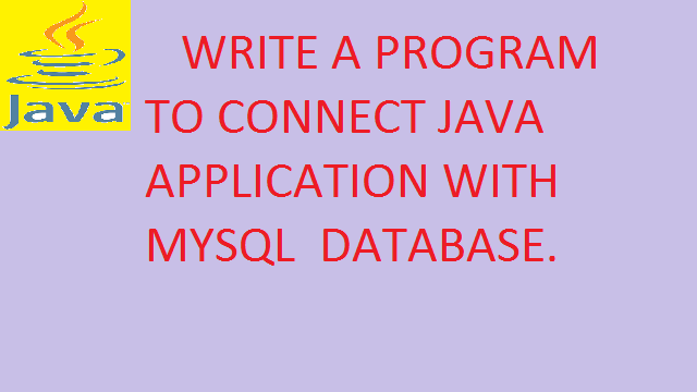 How to Connect to MySQL database in Java programming