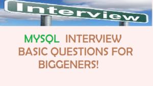 MYSQL Interview Questions !