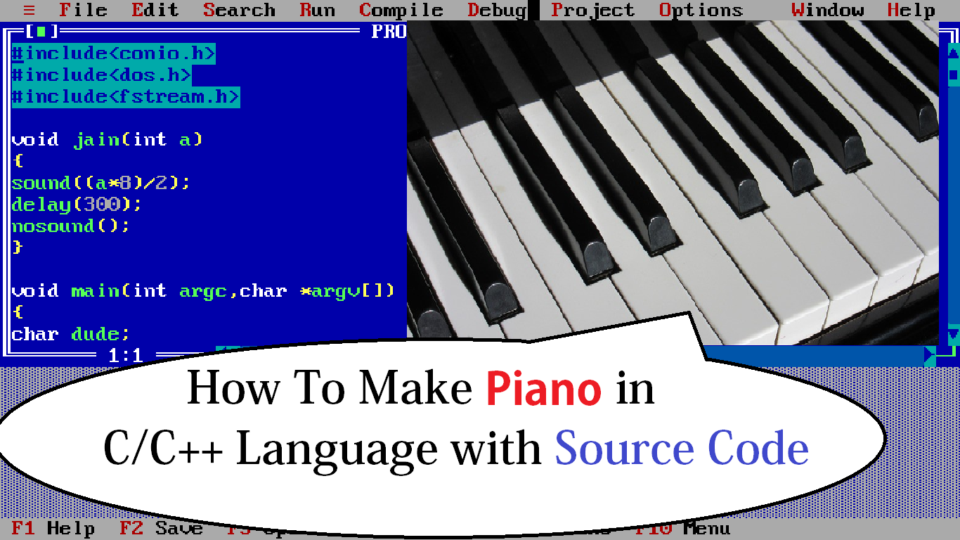 How to make a Piano using C++ Programming Language | source code