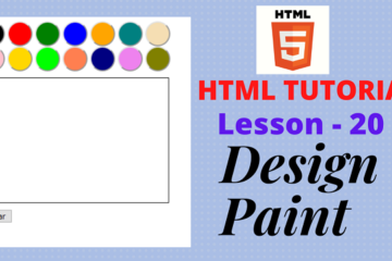design paint in html