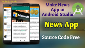 How to Create News App Android Studio | Source code free