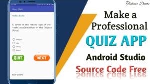 Quiz App in Android studio source code free – Android Studio Tutorial