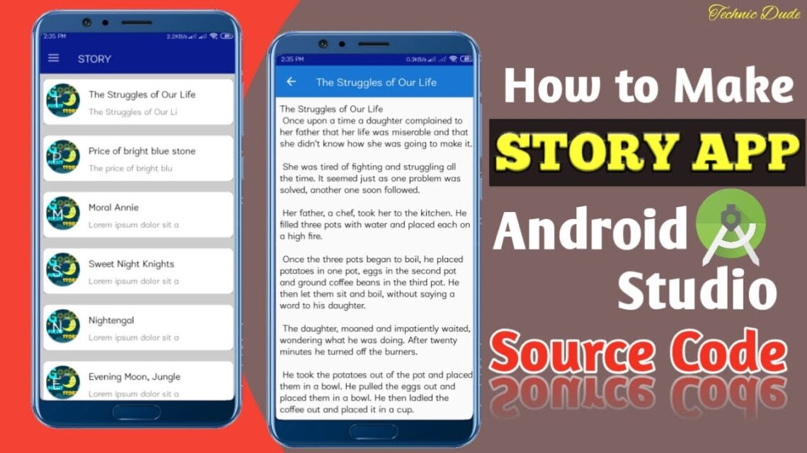 How to Create Story App in Android Studio Step by Step