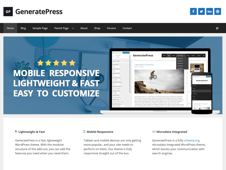 Free Download GeneratePress Premium v1.12.2 Stable
