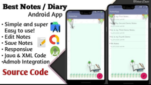 Diary / Notes App in Android Studio with source code