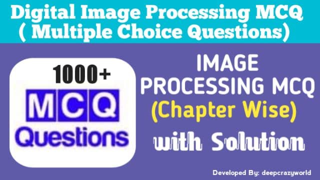 Digital Image Processing MCQ | Smoothing Spacial Filters
