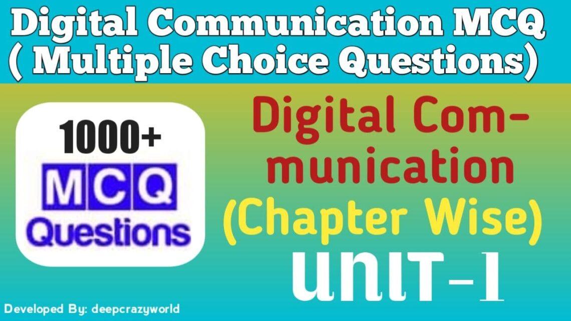 Digital Communication MCQ (Signals and Spectra) UNIT-1